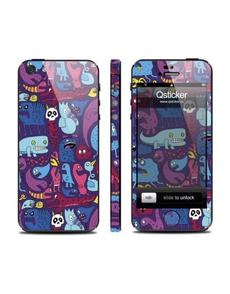 Samolepka pro iPhone SE/5s/5 - Monsters