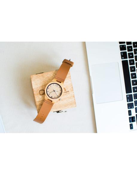 Dřevěné hodinky Qwatch - Bambus