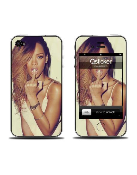 Samolepka pro iPhone 4/4S - Rihanna