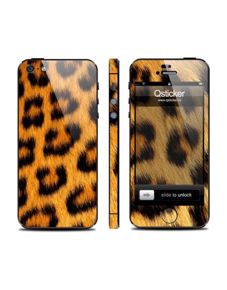Samolepka pro iPhone SE/5s/5 - Leopard