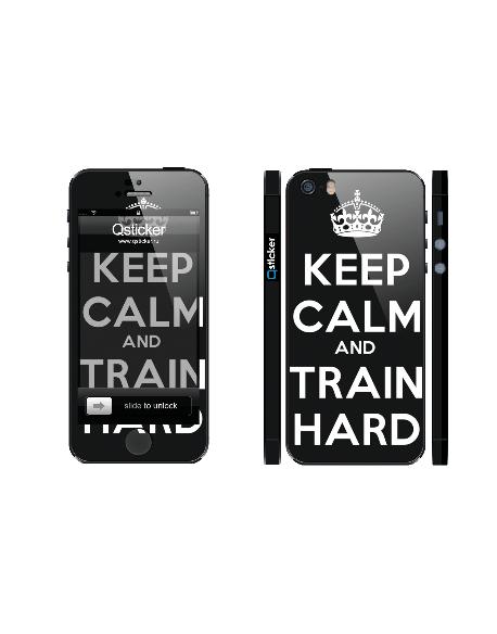 Samolepka pro iPhone SE/5s/5 - Train hard