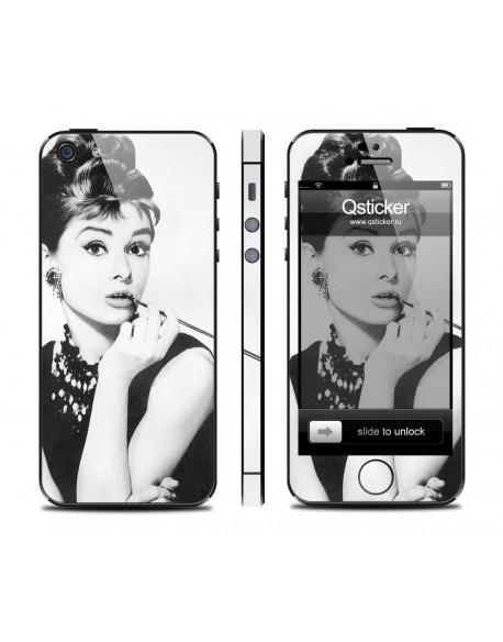 Samolepka pro iPhone SE/5s/5 - Hepburn