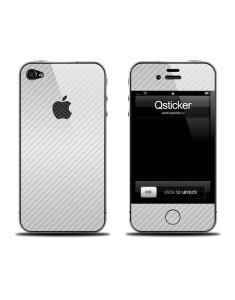 Samolepka pro iPhone 4/4s - Carbon White