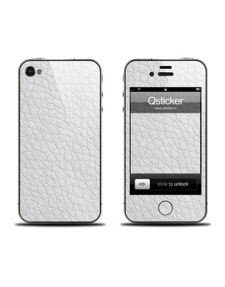 Samolepka pro iPhone 4/4s - Leather White