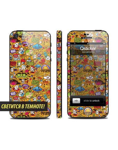 Samolepka pro iPhone SE/5s/5 - Neon Clipart