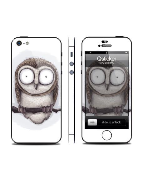 Samolepka pro iPhone SE/5s/5 - Neon Owl