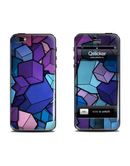 Samolepka pro iPhone SE/5s/5 - Cubes