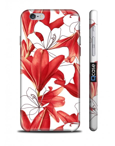 Kryt pro iPhone 6s/6 - Red Flowers