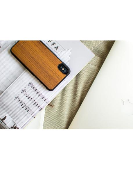 Dřevěný kryt pro iPhone X & Xs - Walnut