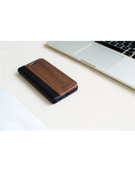 Dřevěné pouzdro na iPhone 8,7 Plus - Walnut