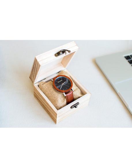 Dřevěné hodinky Qwatch - Rosewood