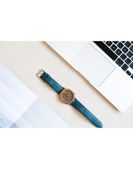 Dřevěné hodinky Qwatch - Zebrano