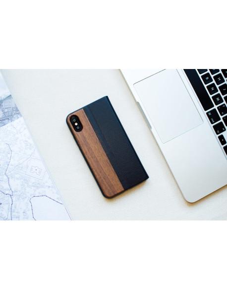 Dřevěné pouzdro na iPhone X & Xs - Walnut