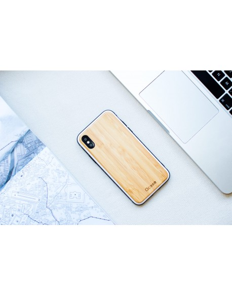 Dřevěný kryt pro iPhone X & Xs - Bamboo