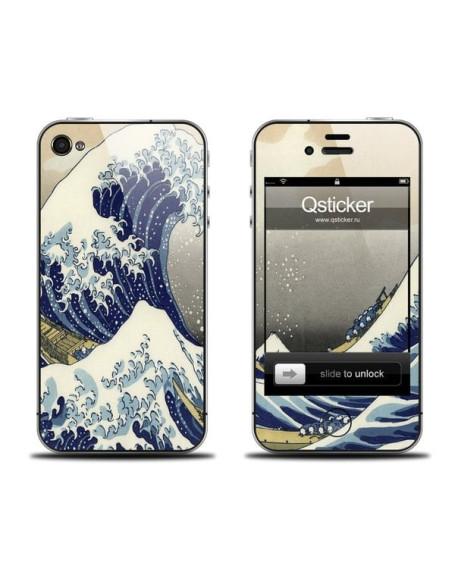 Samolepka pro iPhone 4/4S - Waves