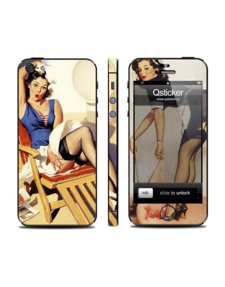 Samolepka pro iPhone SE/5s/5 - Pin Up