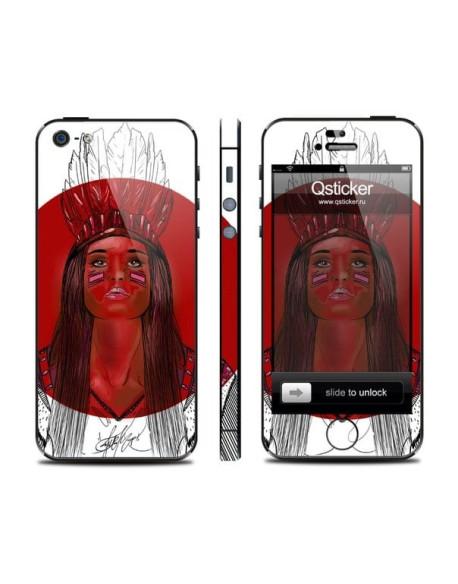 Samolepka pro iPhone SE/5s/5 - Red girl