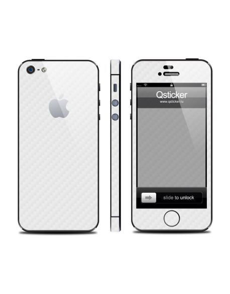 Samolepka pro iPhone SE/5s/5 - Carbon White