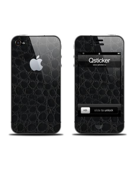 Samolepka pro iPhone 4/4s - Leather black