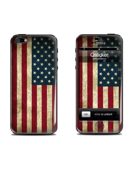 Samolepka pro iPhone SE/5s/5 - USA