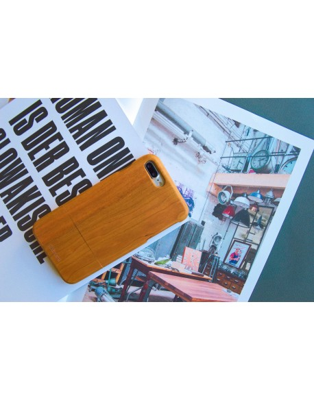 Dřevěný kryt pro iPhone 7 Plus - Cherry
